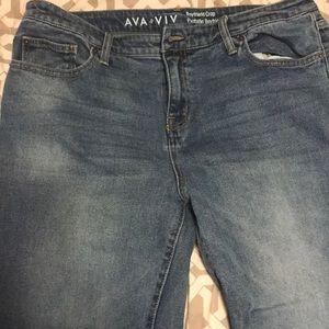 Ava & Viv boyfriend style cropped jean